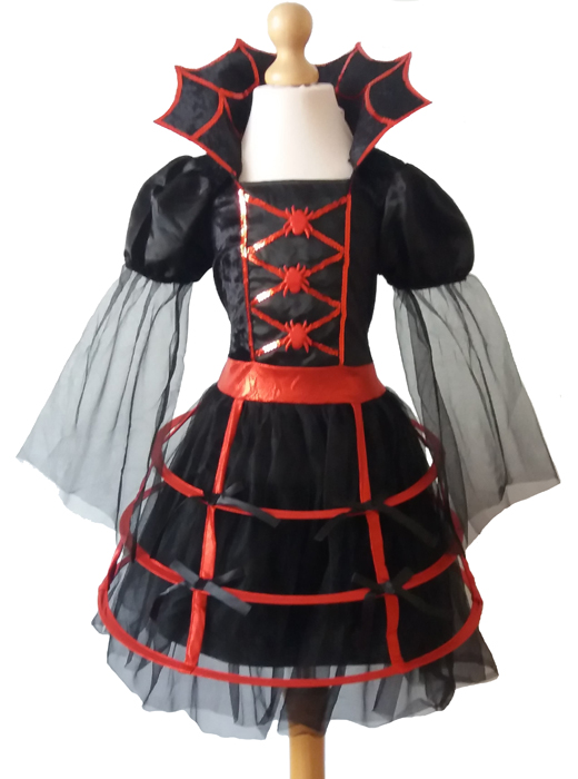 Girls Cute Vampire / Vampiress Fancy Dress Costume, Halloween 7 – 9 years