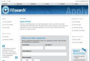 IRB Search application