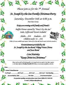 2017 Family Christmas Party flier