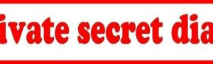 Private secret diary banner