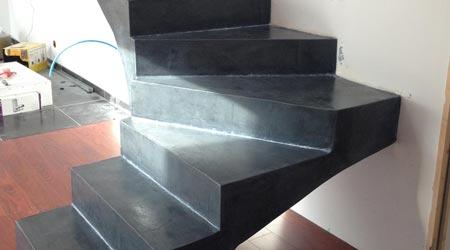 Beton Cire Pour Escalier Exterieur Interesting Dtail Duun