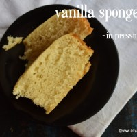 eggless vanilla cake recipe | how to make eggless vanilla sponge cake,cake in pressure cooker