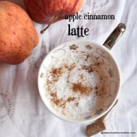 apple cinnamon latte recipe | latte without coffee machine recipe