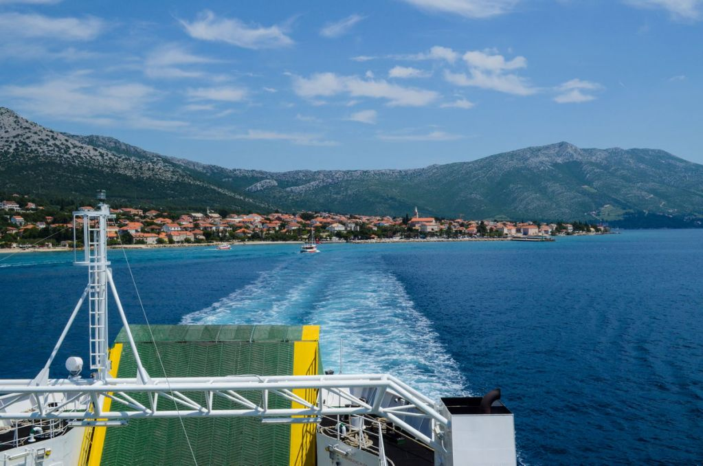 Orebic Korcula Ferry View From Deck