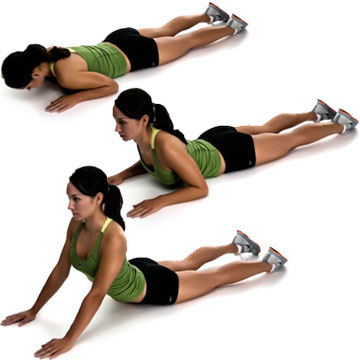 bodyweight exercise: lying back presses
