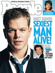 Matt Damon Sexiest man alive 2007 People