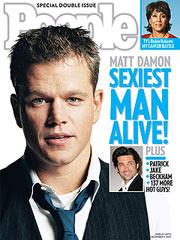 Matt Damon Sexiest man alive 2007 People