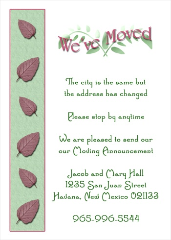 Moving Announcements Housewarming Invitations Open