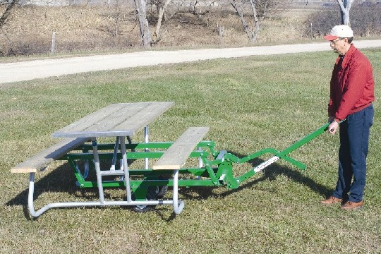 Picnic Table Transporter Makes Moving Tables Easy R J