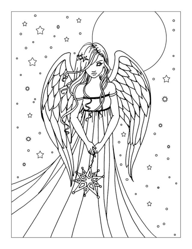 Angel Coloring Pages And Other Top 20 Themed Coloring Challenges