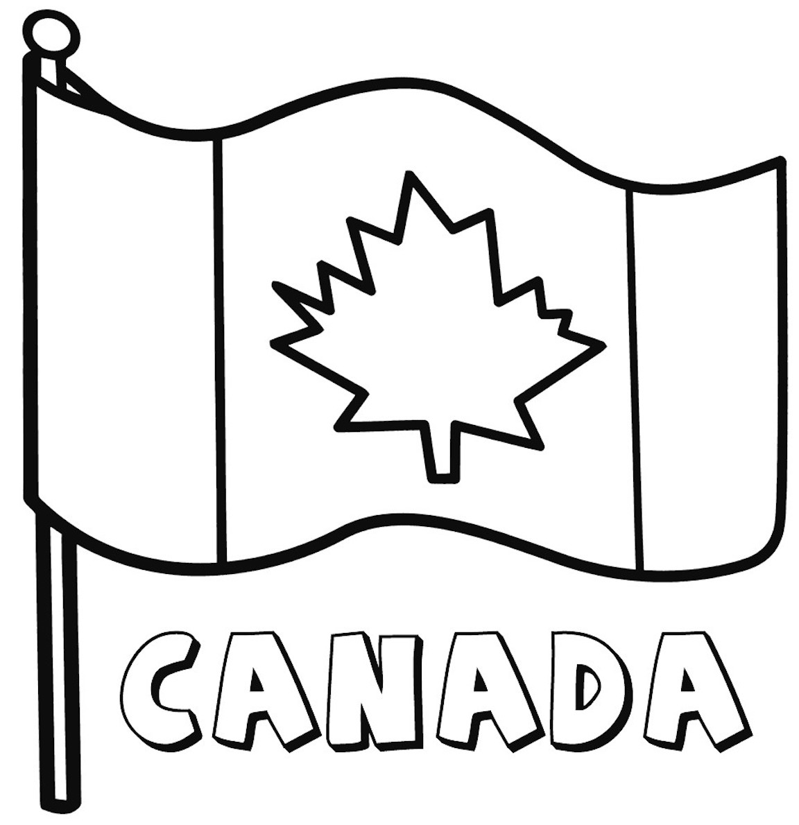 Canadian Flag Coloring Pages And Other Free Printable