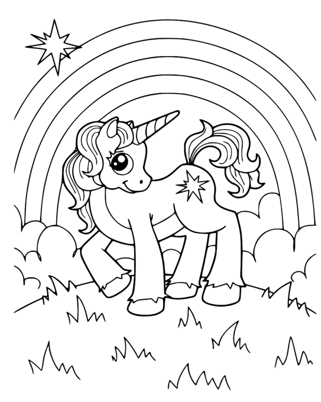 Cute Unicorn Coloring Pages And Other Top 20 Coloring Themes