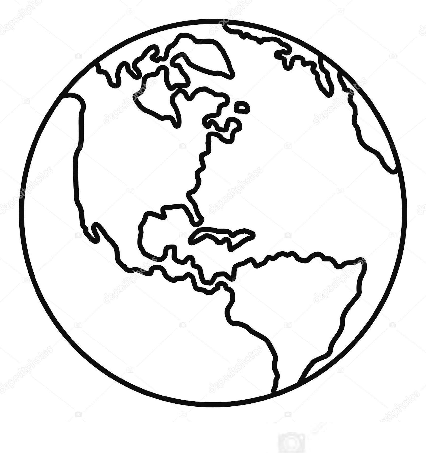 Earth Clipart Coloring Pages And Other Free Printable