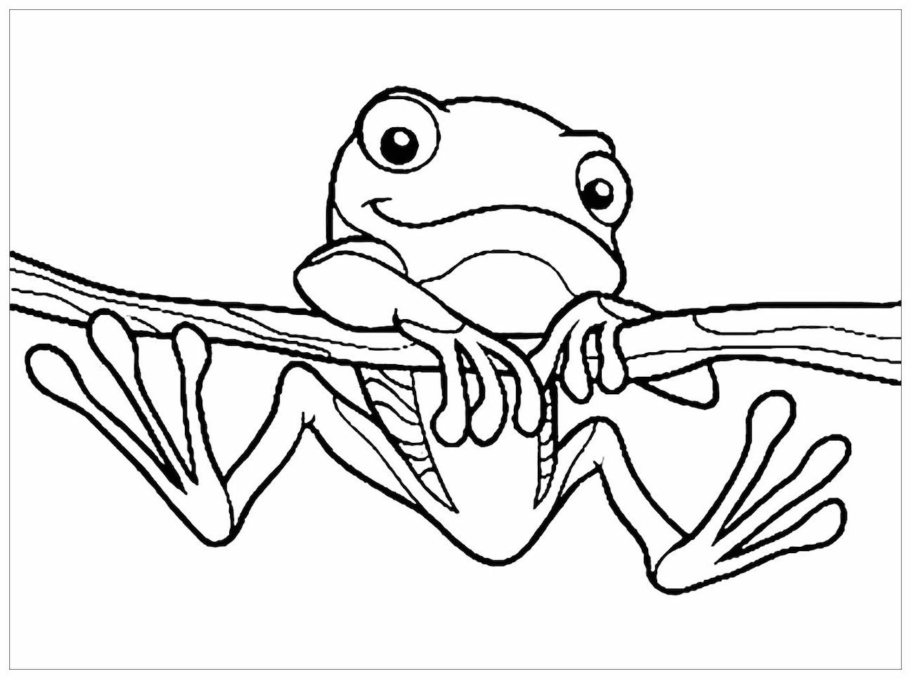 Frog Coloring Pages Clipart And Other Free Printable