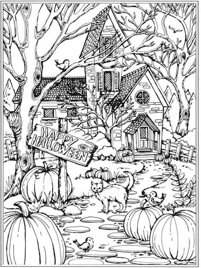 Halloween Coloring Pages For Adults And Other Top 8 Coloring Themes
