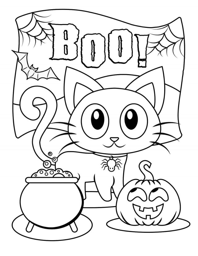 Halloween Coloring Pages And Many More Free Printable Coloring Themes
