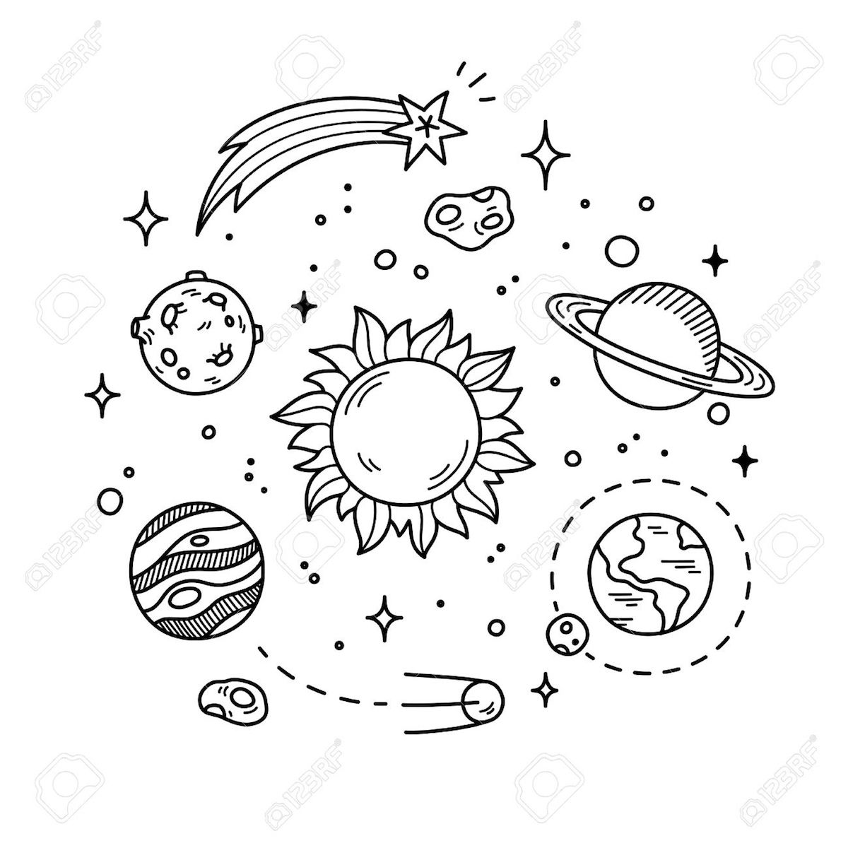 Outer Space Coloring Pages And Other Coloring Themes