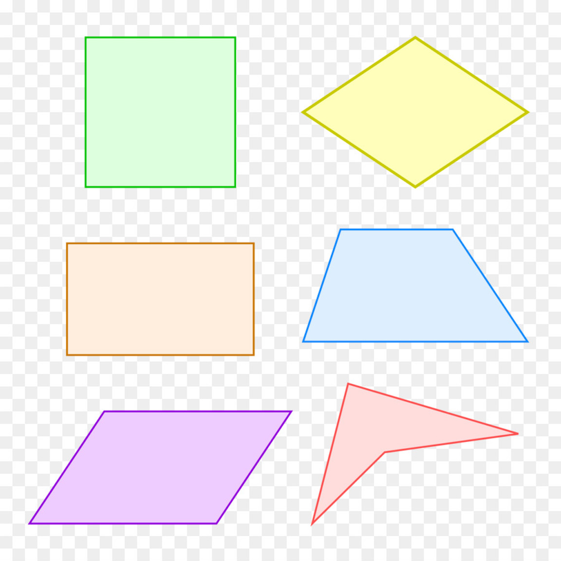 Quadrilateral Shapes Coloring And Other Free Printable