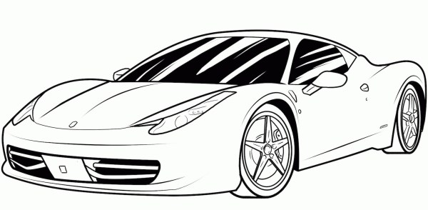 printable car coloring pages # 4
