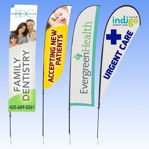 feather flags for medical office