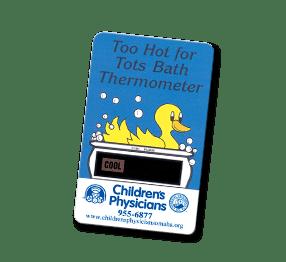 Custom bath water thermometer