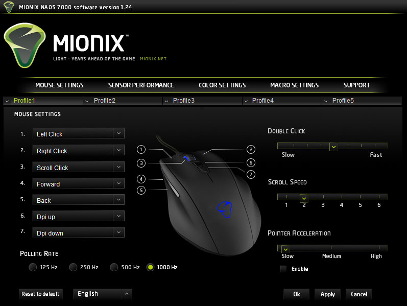 mionix naos software