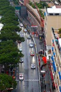 Porsche Mobil 1 Supercup Monaco 2016 Start Matteo Cairoli (I) Klaus Bachler (A) Michael Ammermüller (D)