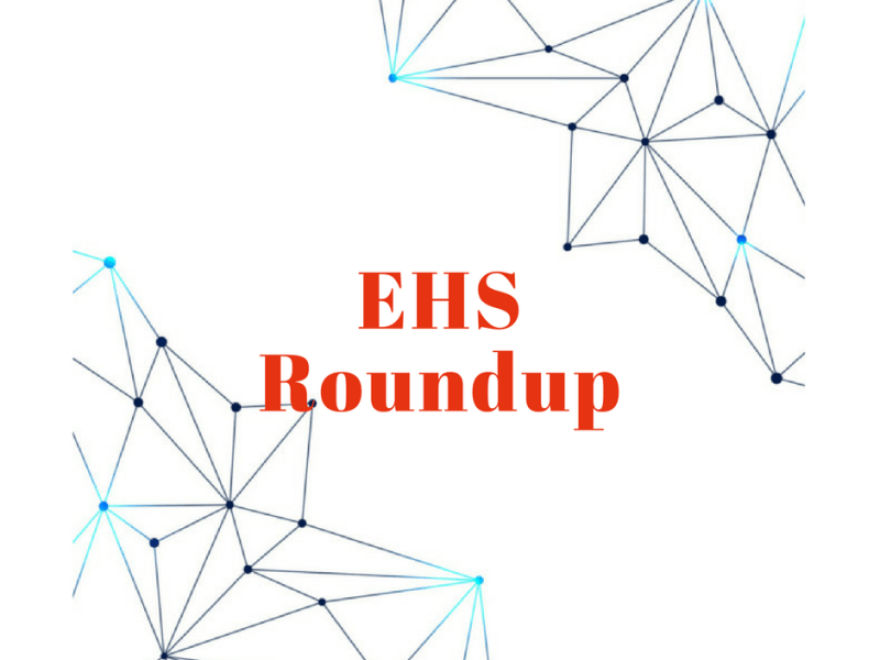 October 2018 EHS News Roundup