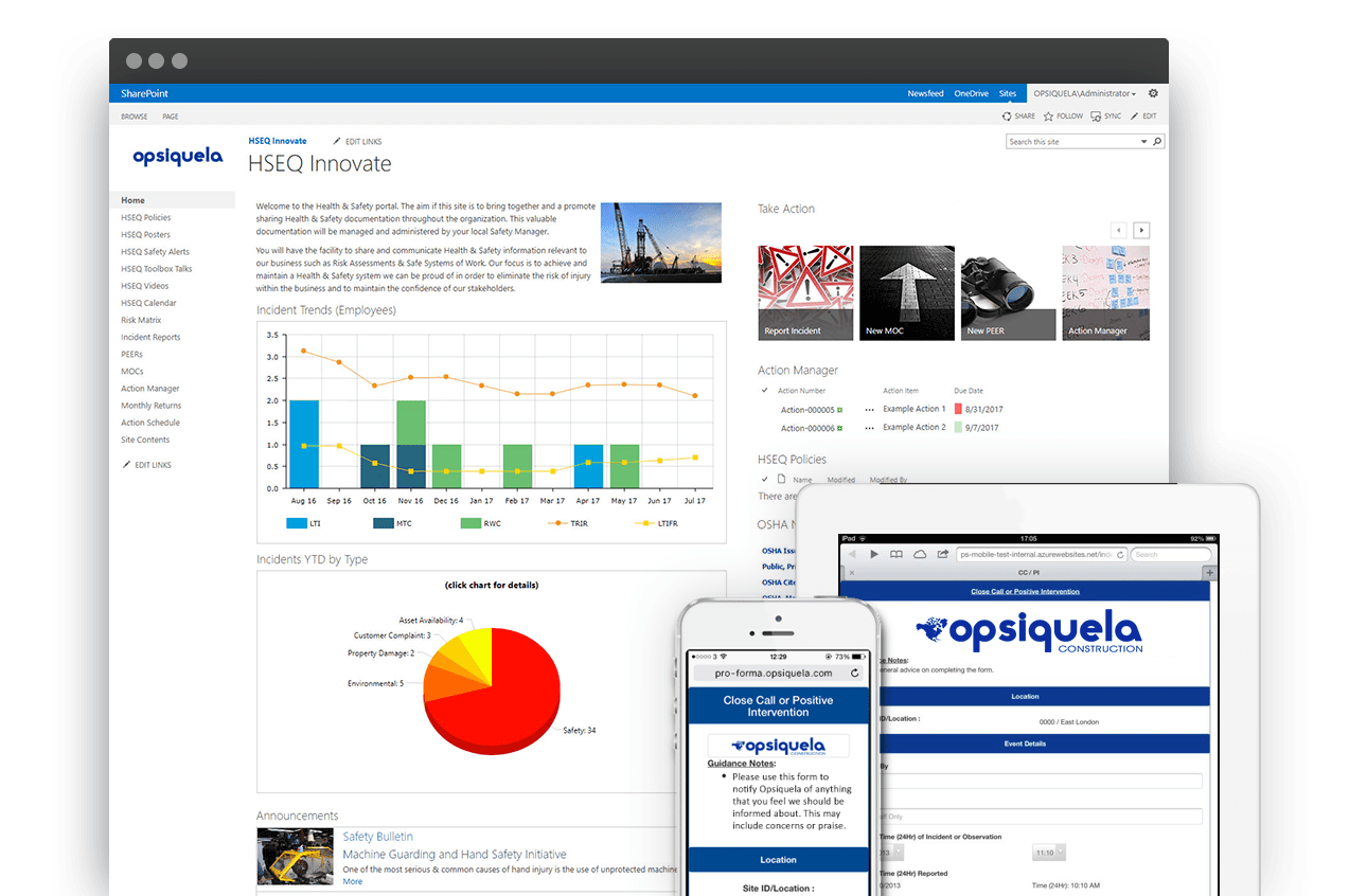 Safety software on SharePoint and Office 365