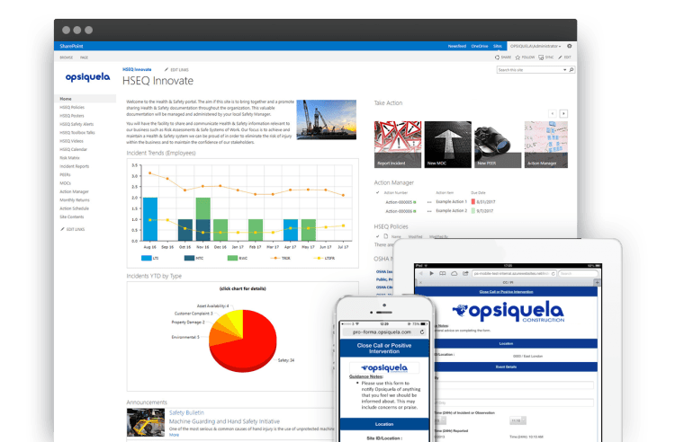 EHS software on SharePoint and Office 365