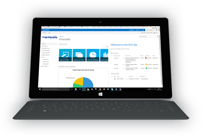 EHS software on SharePoint 2016