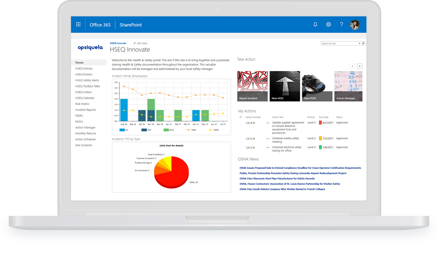 EHS Software on Office 365