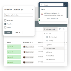 Find records quickly in Pro-Sapien's Contractor Register