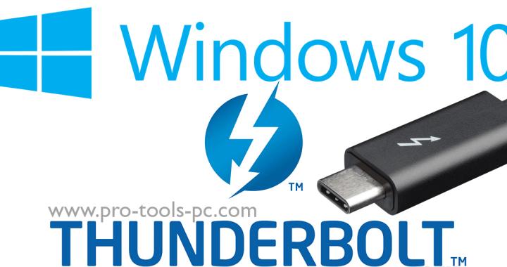 Windows 10 Thunderbolt