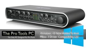 Avid Mbox Windows 10