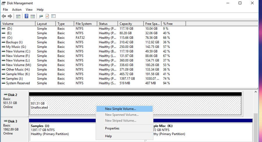 Formatting a Hard drive