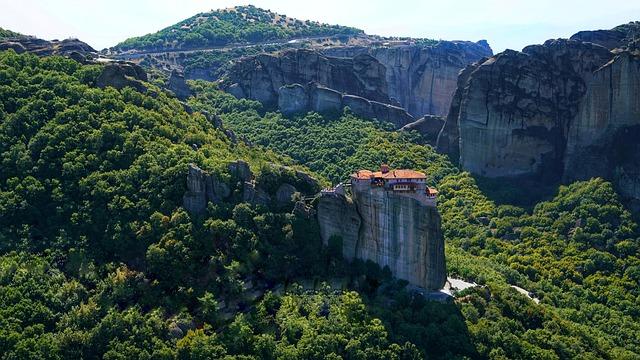Метеоры в Греции Монастырь Святого Степана