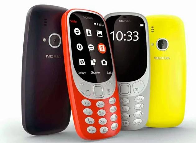 Colores del Nokia 3310 2017
