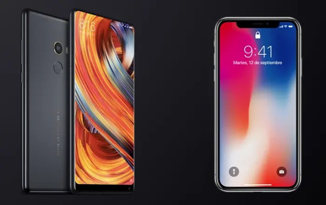 xiaomi mi mix 02 vs iPhone x