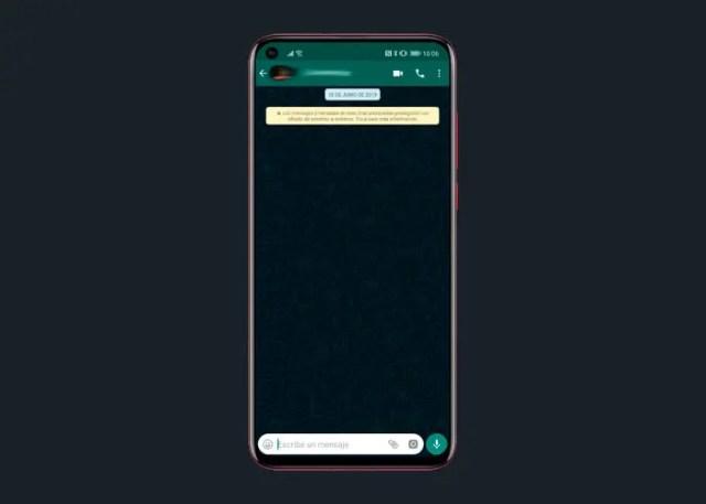 WhatsApp manera oscuro