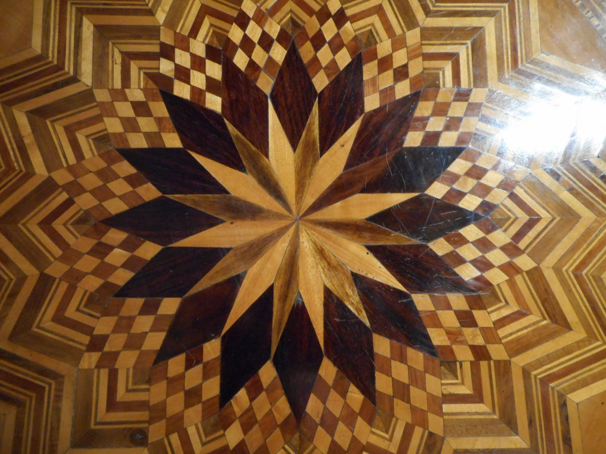 Gueridon In Marquetry Early 19th Century