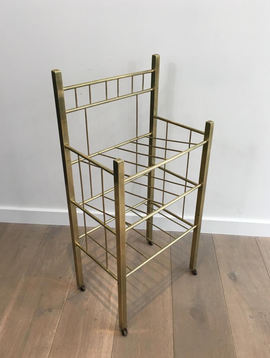 brass magazine rack damaged brass in