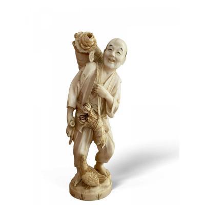 sculpture os dents ivoire sur