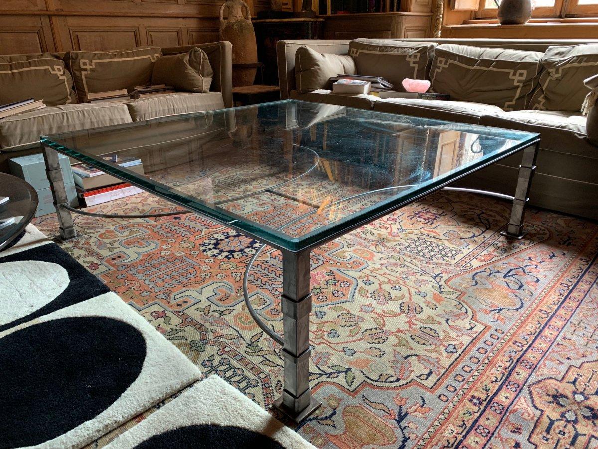 table basse verre et fer forge tables