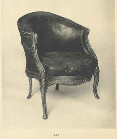Fauteuil de bureau, collection Jacques Doucet