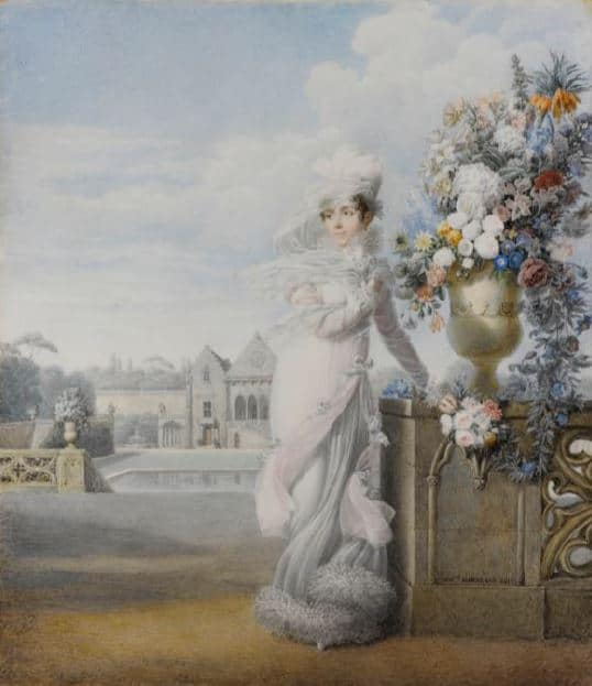 Auguste Garneray Portrait de l'impératrice Joséphine