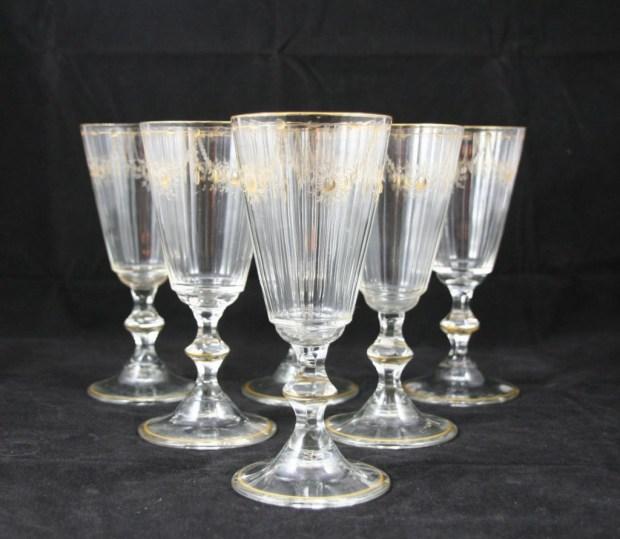 Suite de six verre à vin début XIXème.