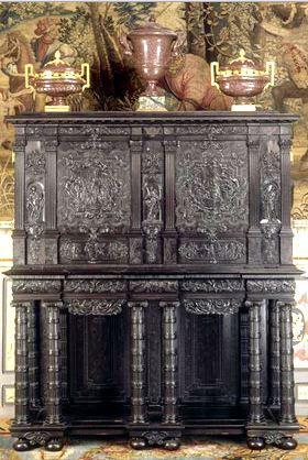 Cabinet d'ébène, cabinet de l'odyssée. (c) Château de Fontainebleau