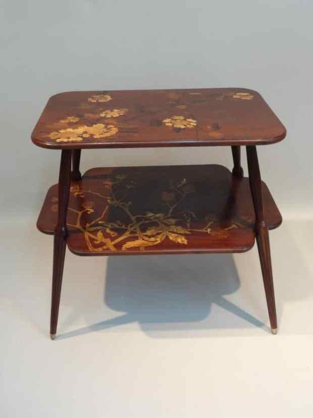 Table à Thé Signée L. majorelle Nancy 1900. (c) Galerie Jungmann, Proantic