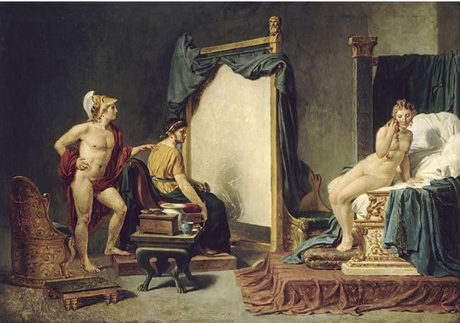 Jacques Louis David, Apelle peignant Campaspe en présence d'Alexandre, vers 1812, huile sur bois, 96 x 136 cm, Lille, Palais des Beaux Arts (©Rmn-Grand Palais / Philipp Bernard).